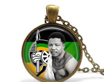Nelson Mandela Pendant /  Nelson Mandela Necklace / South African / ANC