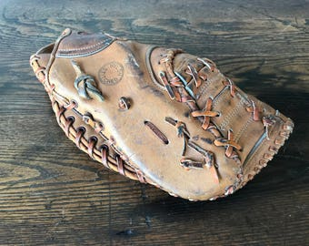 Vintage Leather Holmar Baseball Glove