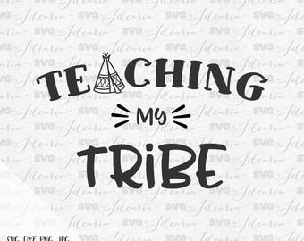 Teaching my tribe svg, teacher svg, teacher appreciation svg, funny teacher svg, apple svg, teacher apple, teacher life, monogram, school
