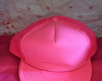 Vintage Pink Baseball Cap