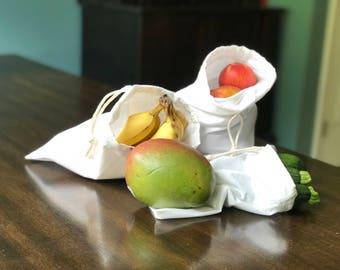 Set of 6 Reusable Produce Bags - Reusable Bulk Bag