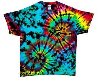 Tie Dye Shirt - XL - #6516  [Double Spiral Scrunch]