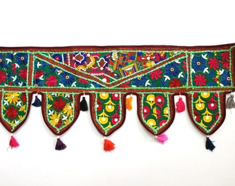 Handmade Window Door Valance Home Decor Decorative Embroidered Patchwork Toran Pelmet Topper Drapery Top Hanging Tent Decoration Art K377