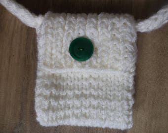 knitted bag 10cm