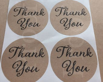 Thank You stickers - favor stickers- wedding favor sticker- shower stickers- wedding sticker