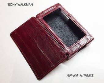 Sony Walkman NW-WM1A / WM1Z leather case