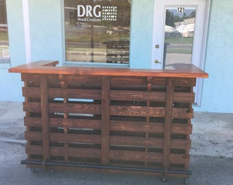 The Bartender ~ Pallet Bar / Tiki Bar ~                              The Most Incredible True Pallet/Tiki Bar You Can Buy •• Spring Sale ••