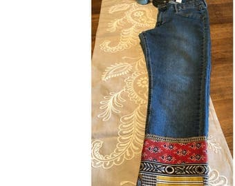 Embellished jeans kickers