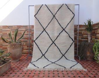 beni ourain authentic  Moroccan berber rug