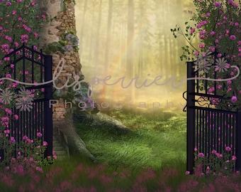 2 Rapunzel Digital Composite / Digital Background / Princess forest