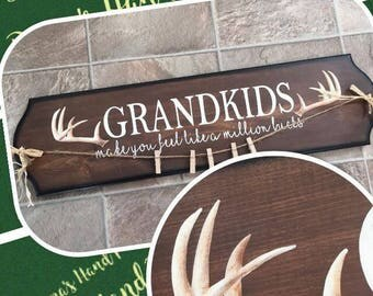 GRANDKIDS make you feel like a million bucks - picture hanging sign