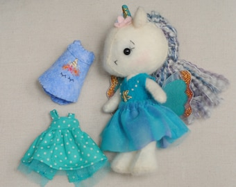 Gingermelon Wool Unicorn Fairy Doll