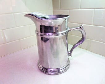 Wilton Pewter Water Pitcher Large 4 Pint Pitcher with Ice Guard