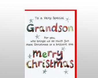 Christmas Grandson Poem Card WWXM16