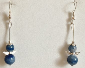 Wellness in blue Aventurine earrings