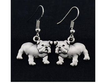 Bulldog Charm Earrings