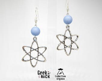 Earrings scientific Atom