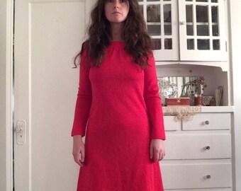 Vintage Red Longsleeve Dress