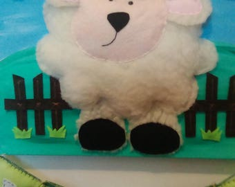 """Picture """"Sheep in the Meadow"""" customizable"""