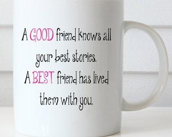 A Good Friend, A Best Friend Coffee Mug, Girlfriend Gift, Cute Coffee Mug, Best Friend Mug