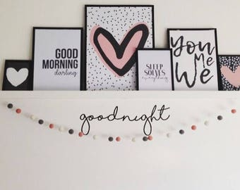 Goodnight Nursery Decor ~ Goodnight Wall Art ~ Goodnight Nursery Wall Stickers ~ Nursery Wall Decals ~ Wall Decals Wall Stickers ~ Goodnight