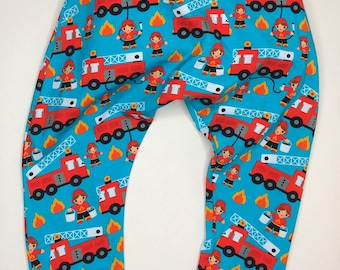 3y size fire engines harem trousers