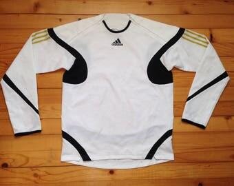 SAMPLE ADIDAS jersey pullover sweatshirt • 80s 90s Hip hop Rap Retro Old school / Nike Hilfiger Kappa Gucci Starter Reebok Supreme / size M