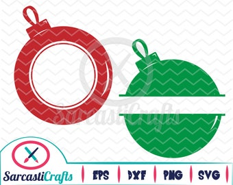 Ornament Monogram Frames - Holiday Graphic - Digital download - svg - eps - png - dxf - Cricut - Cameo - cutting machine files