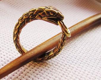 Ouroboros or Uroboros Bronze Amulets Infinity Pendant and Ring