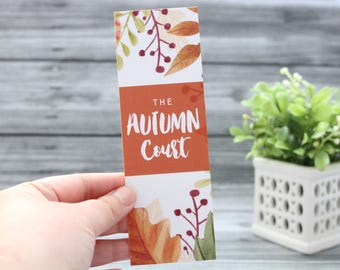 Autumn Court Bookmark - ACOTAR/ACOMAF/ACOWAR