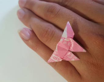 Starburst butterfly ring