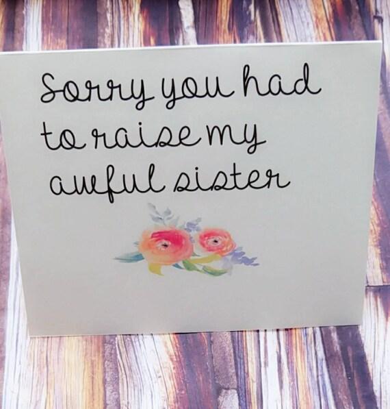 Mom card funny card for mom mom birthday card funny mom – Birthday Cards to Mom from Daughter