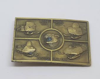 Vintage Solid Brass Collectible  Belt buckle