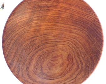 Wood Turned Bubinga Plate