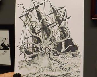 Kraken - Sticker