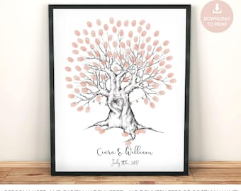 fingerprint tree wedding guest book, fingerprint tree printable, finger print tree, wedding tree, fingerprint tree, wedding guest book tree