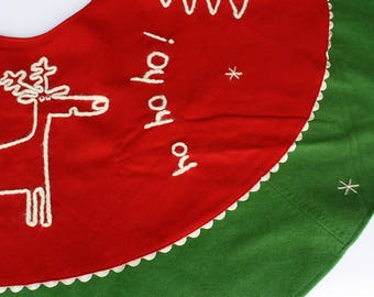Ho Ho Ho Wool Felt tree skirt