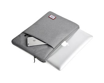 "Macbook Air Sleeve 11 Inch, Macbook 12 Inch Case, iPad Pro 12.9"" Case, Macbook 12 Sleeve, Laptop Sleeve Grey"