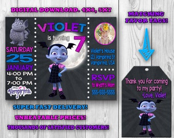 Vampirina Invitation, Vampirina Birthday Invitation, Vampirina Birthday Party, Vampirina Invite, Vampirina Thank You, Printable