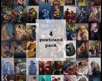 4 postcard pack