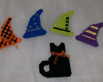 Witches/Wizard Hats and Cat Magnets