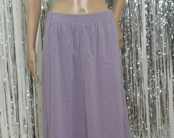 Vintage 80's-90's  Alfred Dunner Long Lilac Purple Skirt (12P)