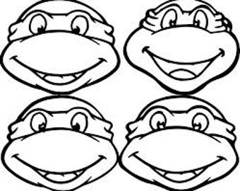 NINJA TURTLES set of 4- Vinyl Decal - Multiple colors and sizes to choose from!!!