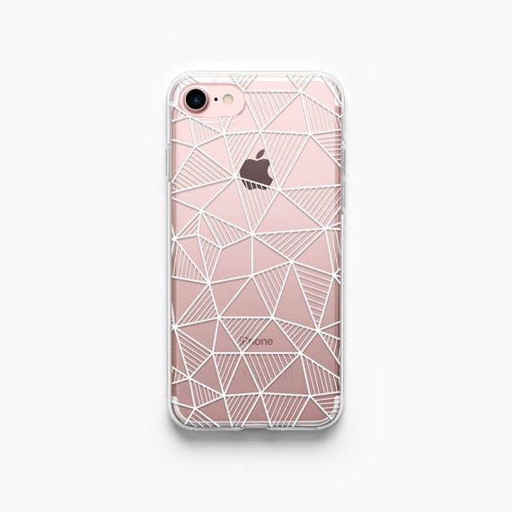 iphone 5s gold case. geometric iphone 5s case clear 5 rose gold silver abstract grid transparent iphone