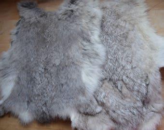 Grey Rabbit Fur