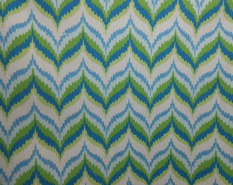 Blue/Green Abstract Outdoor Fabric, Indoor & Outdoor Decor