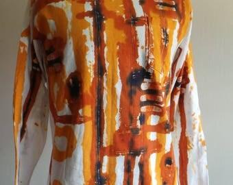 Long Sleeved Tee Shirt.( Batik Direct Application )DABLS027