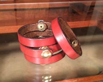 Brown English Bridle Bracelet