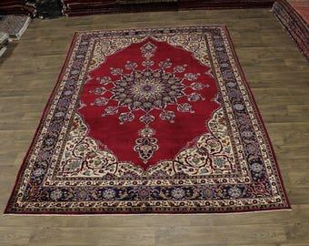 Stunning Antique Rare Handmade Tabriz Khoy Persian Area Rug Oriental Carpet 8X11