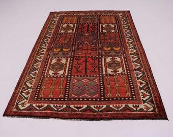 Exceptional Design Vintage Bakhtiari Shiraz Persian Rug Oriental Area Carpet 5X8